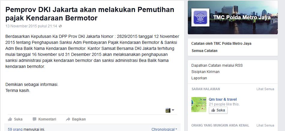Pemprov DKI Mengadakan Pemutihan Kendaraan Bermotor Jilid II Bro & Sist!, Mantap...!!! (2/2)