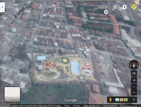 Tampak atas dari citra satelit google