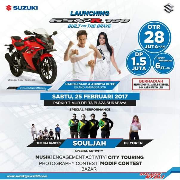 Poster launching suzuki gsxr/s150